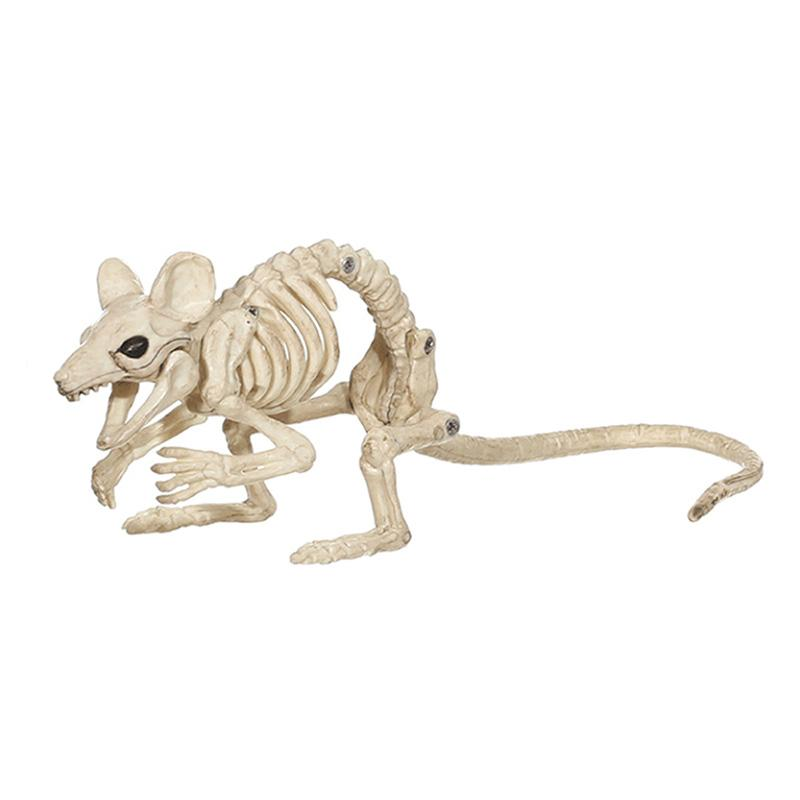 Halloween Decoration Props Animals Skeleton Mouse Dog Cat Skull Bone Ornaments Hallowmas Horror Haunted House Party Decoration (11)