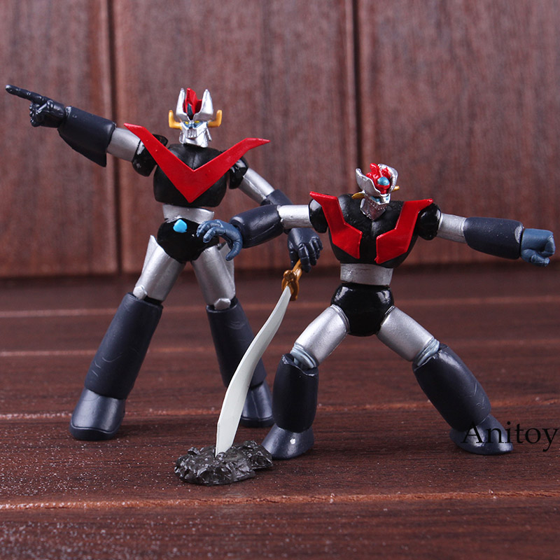 Mazinger Z Super Robot Mazinkaiser Mini Ver. Robot Toy PVC Anime Action Figures Collectible Model Toys 2-pack 7.5-8cm