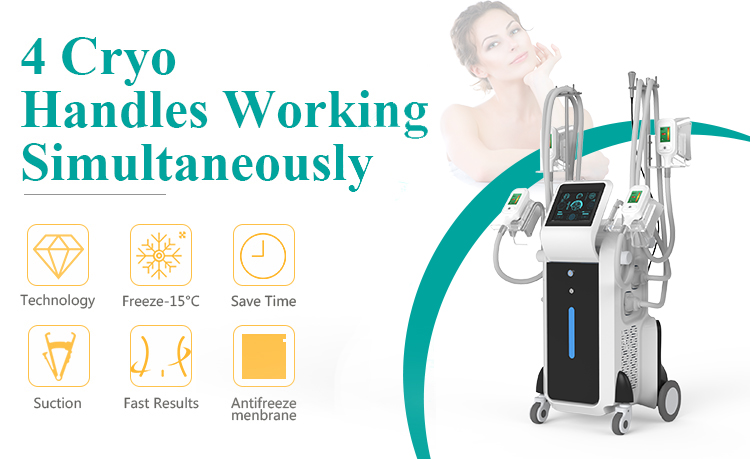3000W High Power -15 Degree Refrigeration Cryo Pad Cryolipolysis Machine