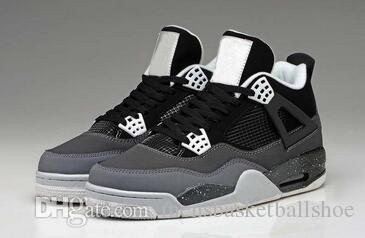 High Quality 4 Basketball Shoes Men Jumpman 4s Pure Money Royalty White Cement Bred Military Blue Sport Sneakers