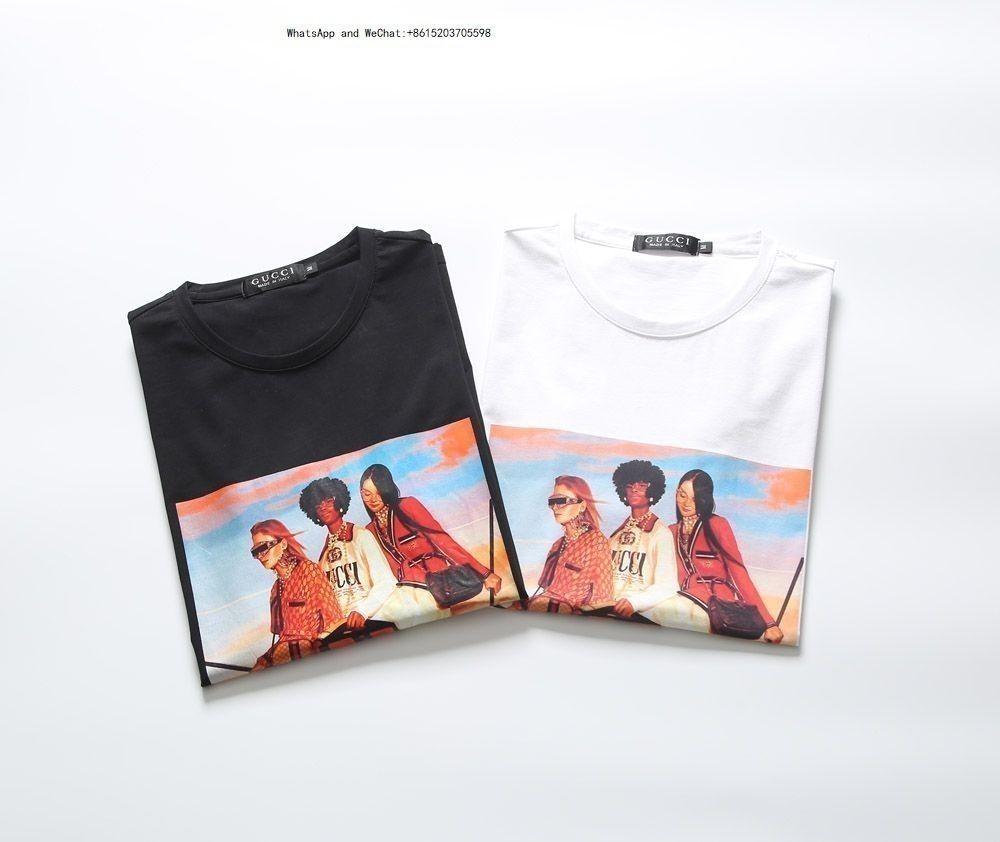 Tee shirt T-shirt pour hommes de mode Nouveau motif hommes Impression Wind Print Sleeve Revers Treillis pour les hommes t-shirts marques 0308