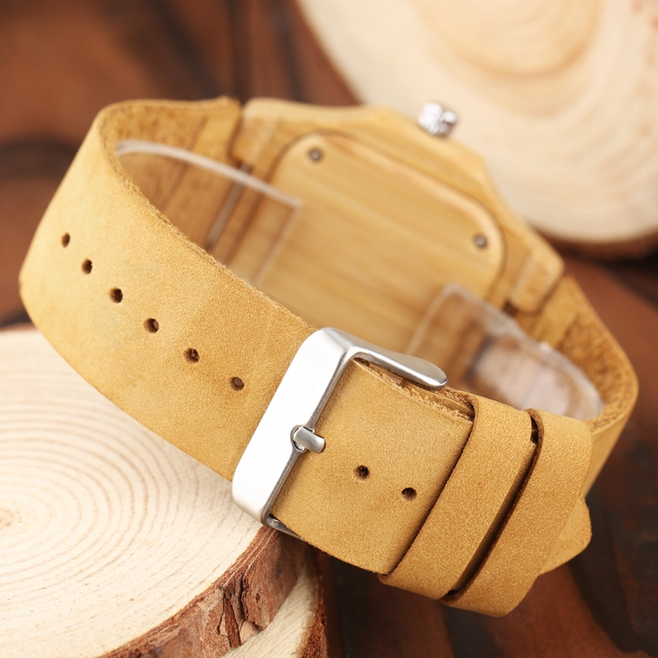 2017 New arrivals Wood Watch Natural Light Wooden Face Fashion Genuine Leather Bangle Unisex Gifts for Men Women Reloj de madera Christmas Gifts (10)