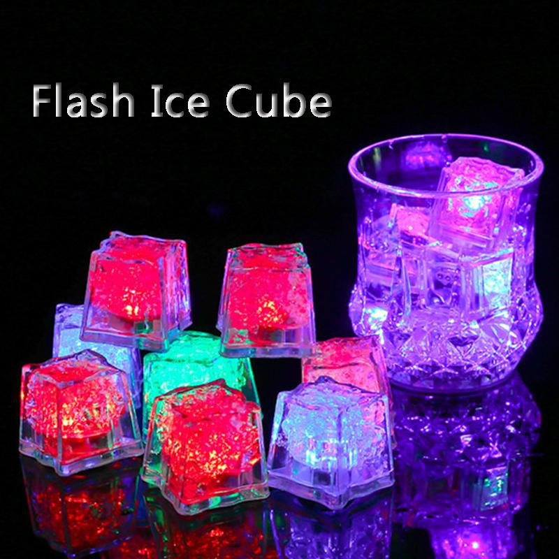 Plastic Led Lights Polychrome Flash Party Lights LED Glowing Ice Cubes Blinking Flashing Decoration Light Up Bar Club Wedding DBC VT0986