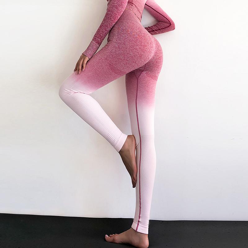 Women Seamless Leggings High Waist Yoga Pants Woman Sport Yoga Leggings Training Tights Gym Fitness Leggings Outdoors Leggins C19040301