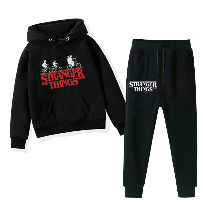 Stranger Things Children Boys Hoodies Long Sleeve Cartoon Hooded Sportswear Top