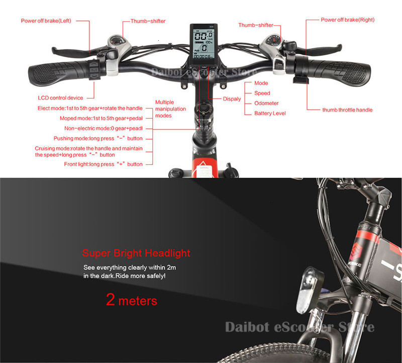 Powerful Electric Bicycle 2 Wheels Electric Bicycles 21 Speed 35KMH 48V 350W Folding Electric Scooter With Removable Battery (32)