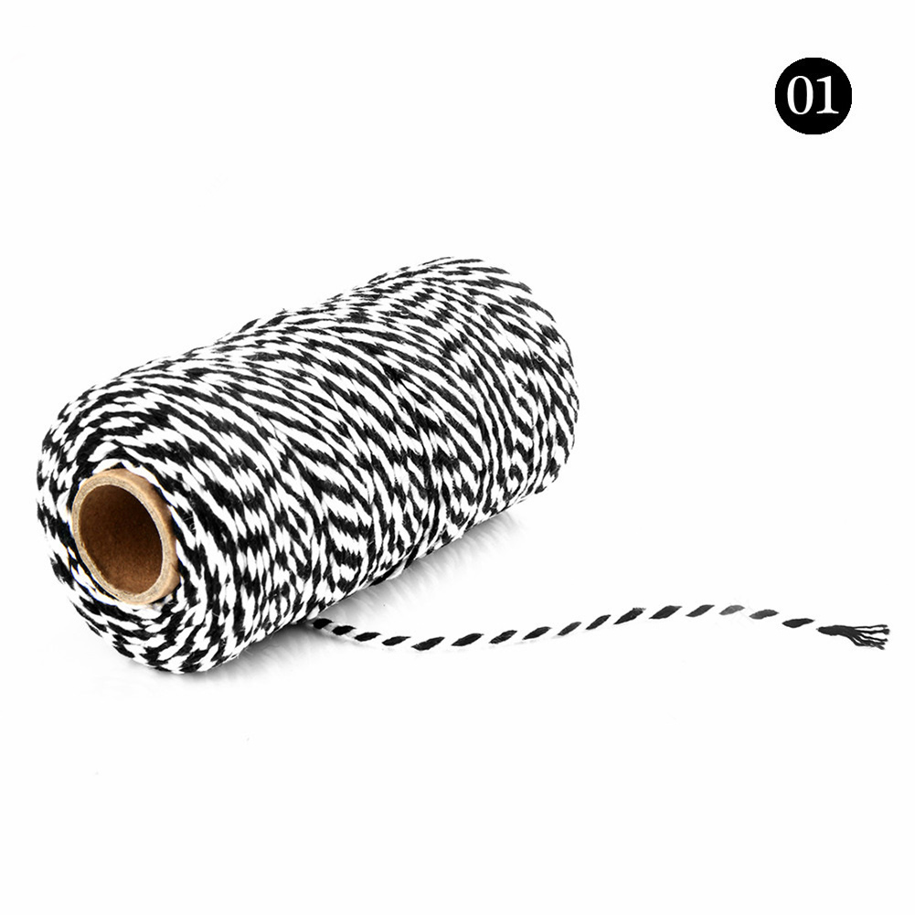 100m avvolgere regalo in cotone corda corde arte artigianale fai da te artigianale oro bianco 2mm doppio colore cordone corda in corda stringa per etichette