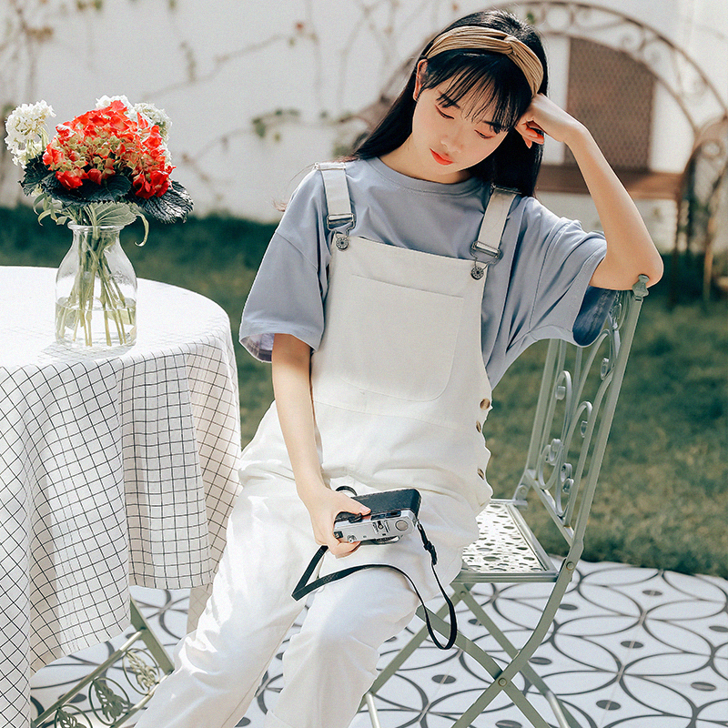 Candy Color Spring Autumn Women Overall Korean Fashion Sweet Solid Cotton Female Jumpsuits Elegant Casual Loose Lady Harem Pants j190723
