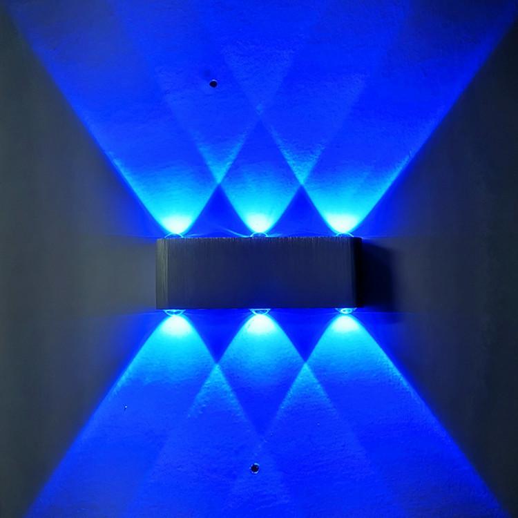 LED RGB ILLUMINAZIONE ESTERNA ALLUMINIO dimmerabile Lampada da parete telecomando Lampada VERANDA