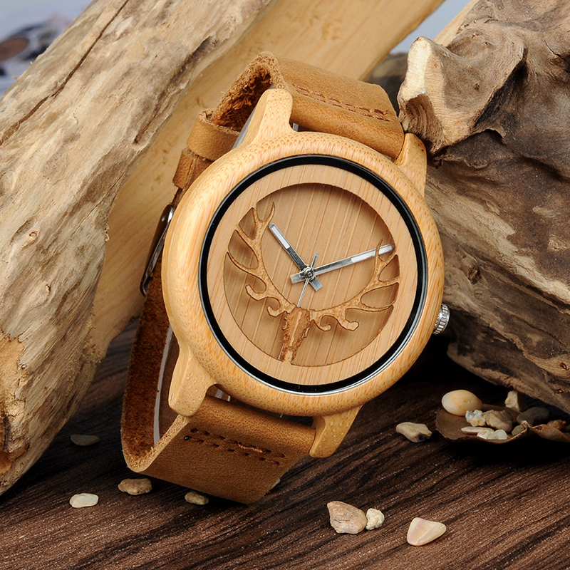 wood bamboo men watch A27