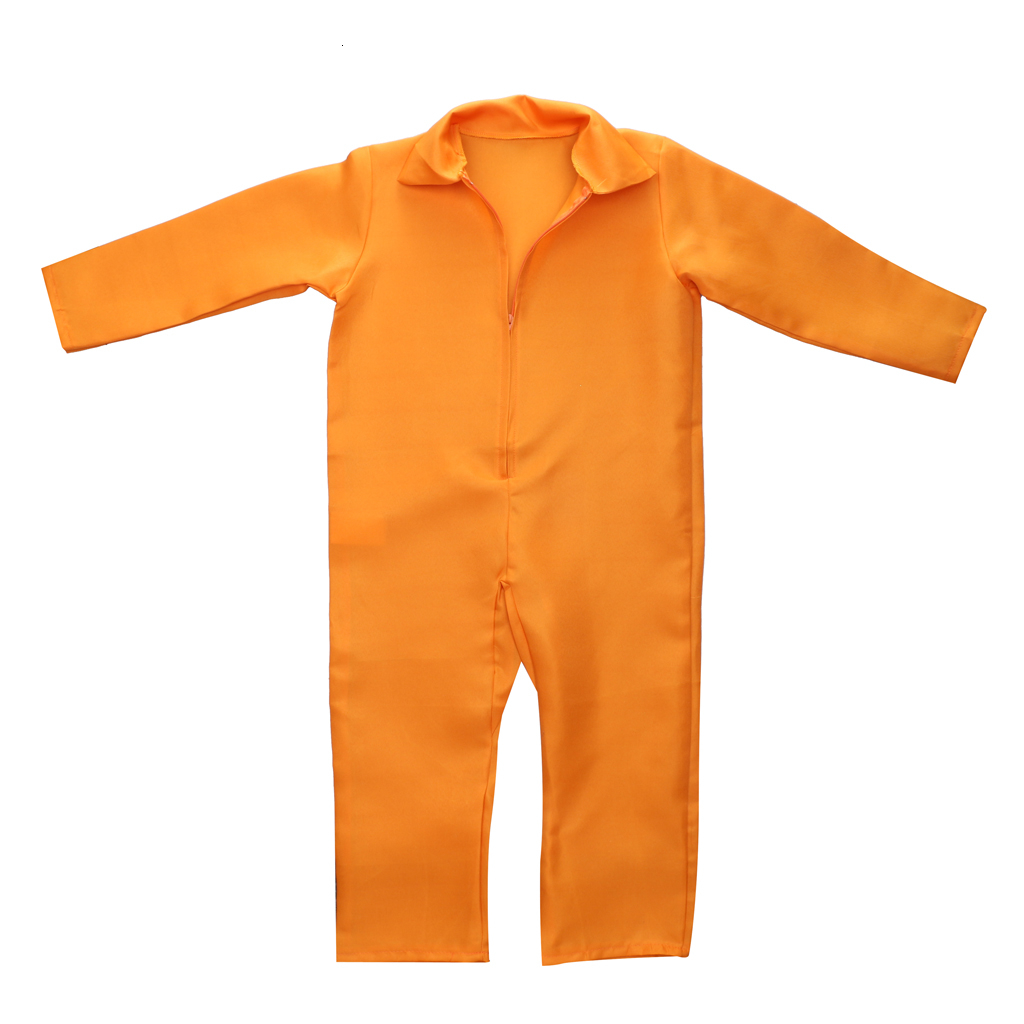 prettyia Prisoner Overall Jumpsuit Convict Stag Do Party Fancy Dress Costume for Stag Do