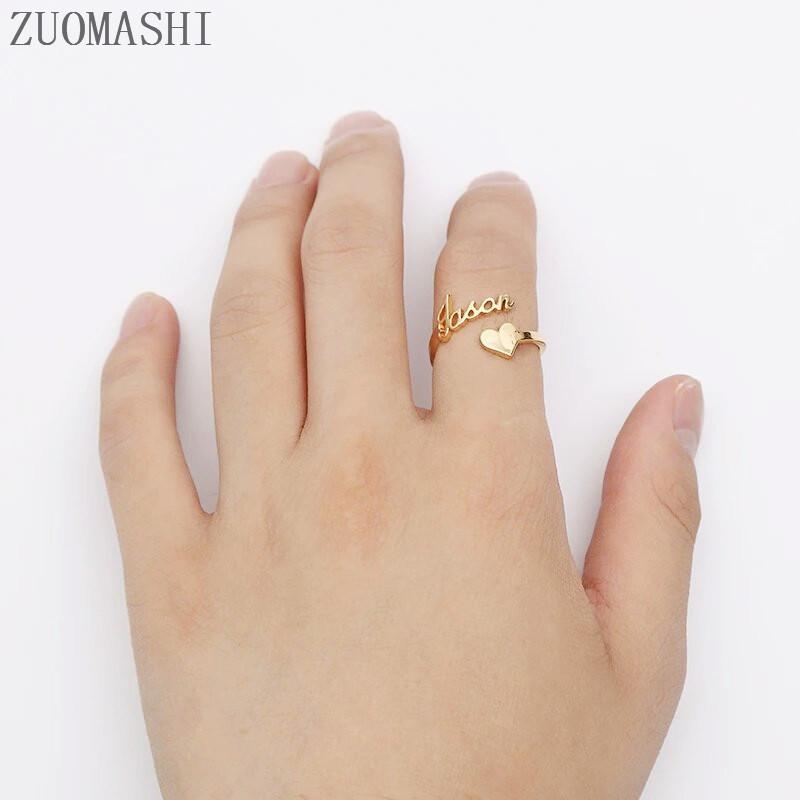 Personalizado-coraz-n-nombre-anillo-tama-o-ajustable-Acero-inoxidable-Rosa-oro-personalizado-anillos-de-boda