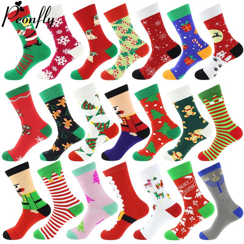 Christmas Holiday Tree And Snow Pattern Compression Socks For Women 3D Print Knee High Boot