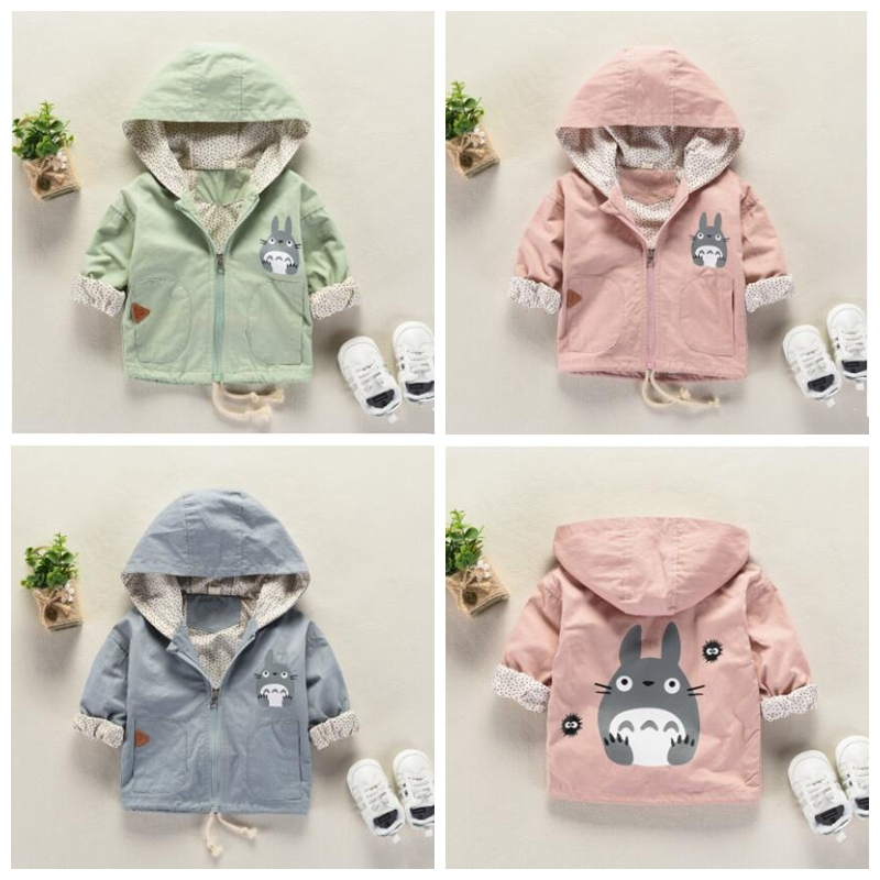 Toddler Kid Baby Boy Girl Floral Print Hooded Zip Jacket Coat Windproof Casual Outerwear Long Sleeve Hoodie Trench Coat