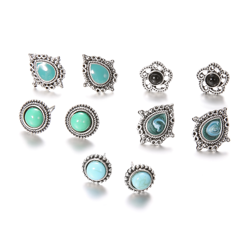 5-Pairs-Set-Vintage-Black-Green-Stone-Earrings-Set-for-Woman-Crystal-Silver-Geometric-Stud-Earring (1)