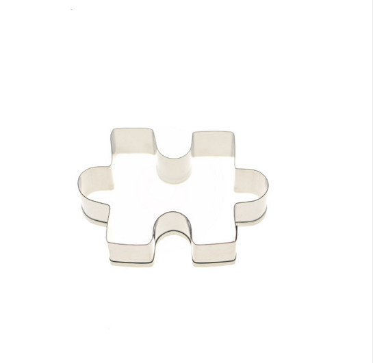 Jigsaw Puzzle Stainless Steel Fondant Cake Mold Decorating Sugarcraft Tools Biscuit Cookie Cutters Mould 70 80 80