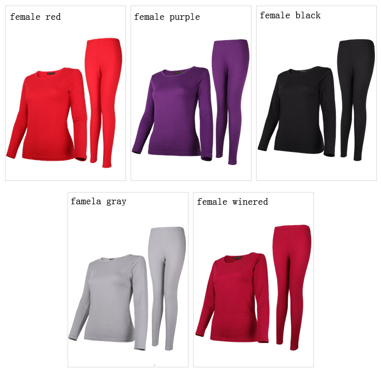 Queenral Long Johns For Male Female Warm Thermal Underwear Thermal Clothing Men Woman Winter Plus Size L - XXXL Thermal Suit 17