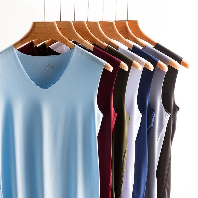Camiseta de verano para hombre sin costuras hombros anchos para hombre cuello ancho cuello en V