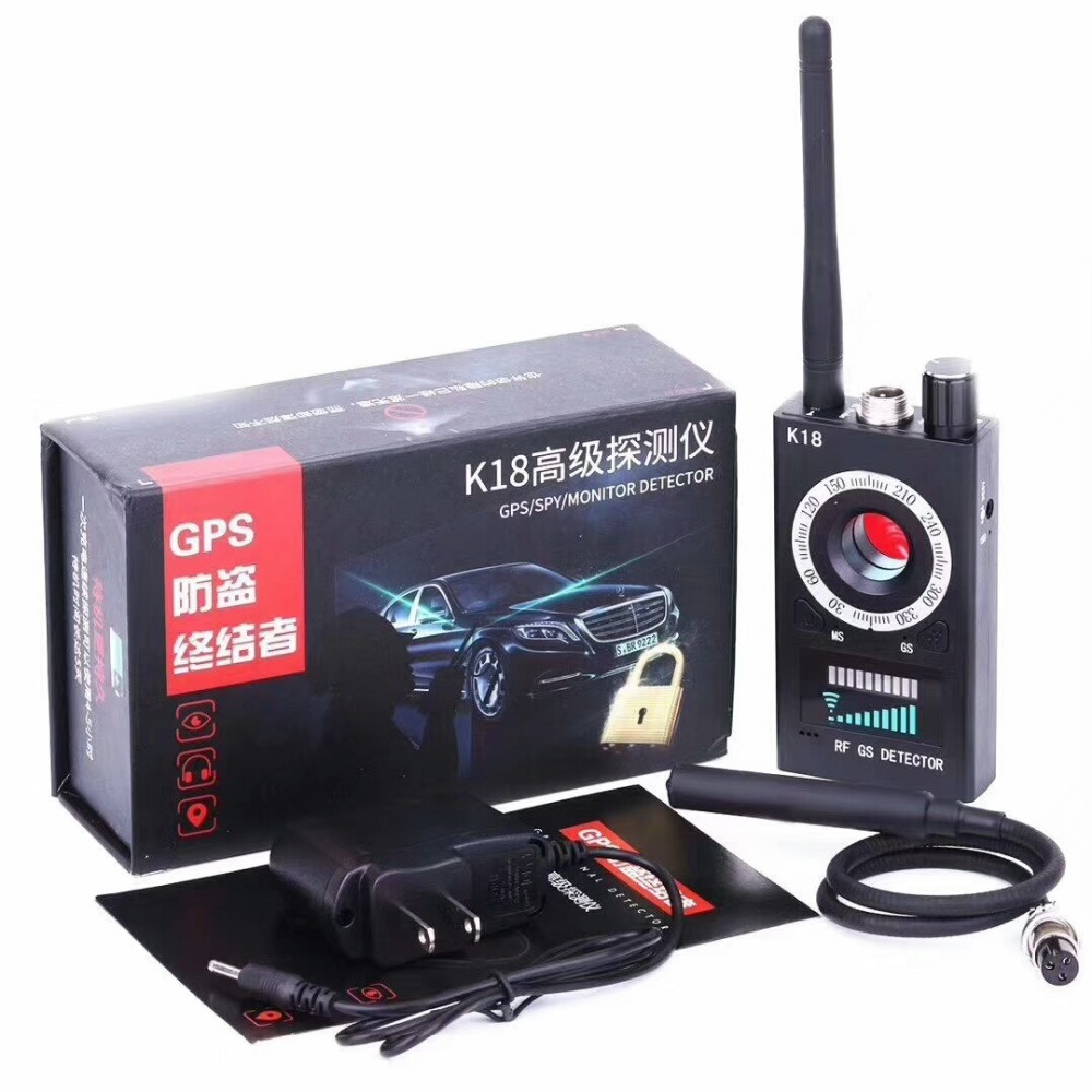 Wireless K18 Antispy RF Detector GSM BugSignal Alarm Hidden Camera Listen Device