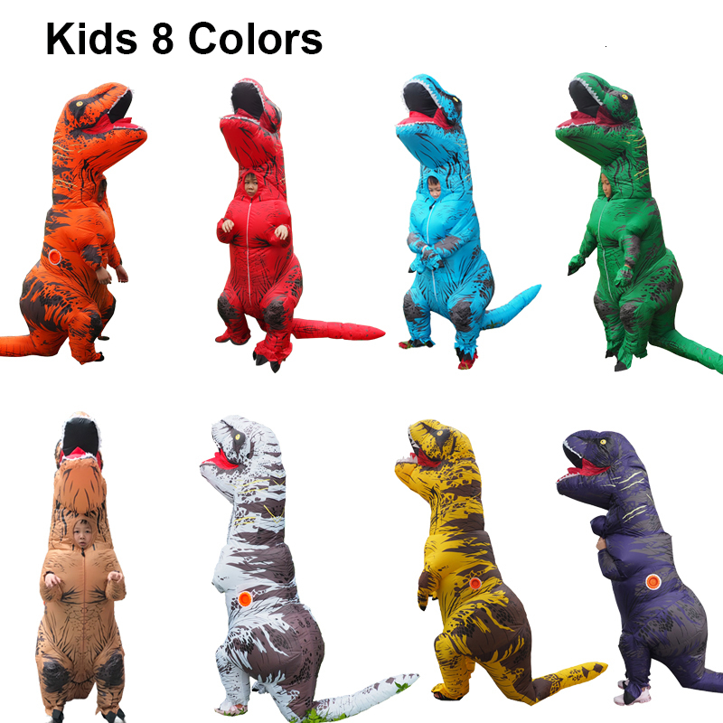 Jurassic World t rex Velociraptor Costume For Adult Cosplay Fantasy Halloween Inflatable T REX Raptor Dinosaur Costume for Women (1)