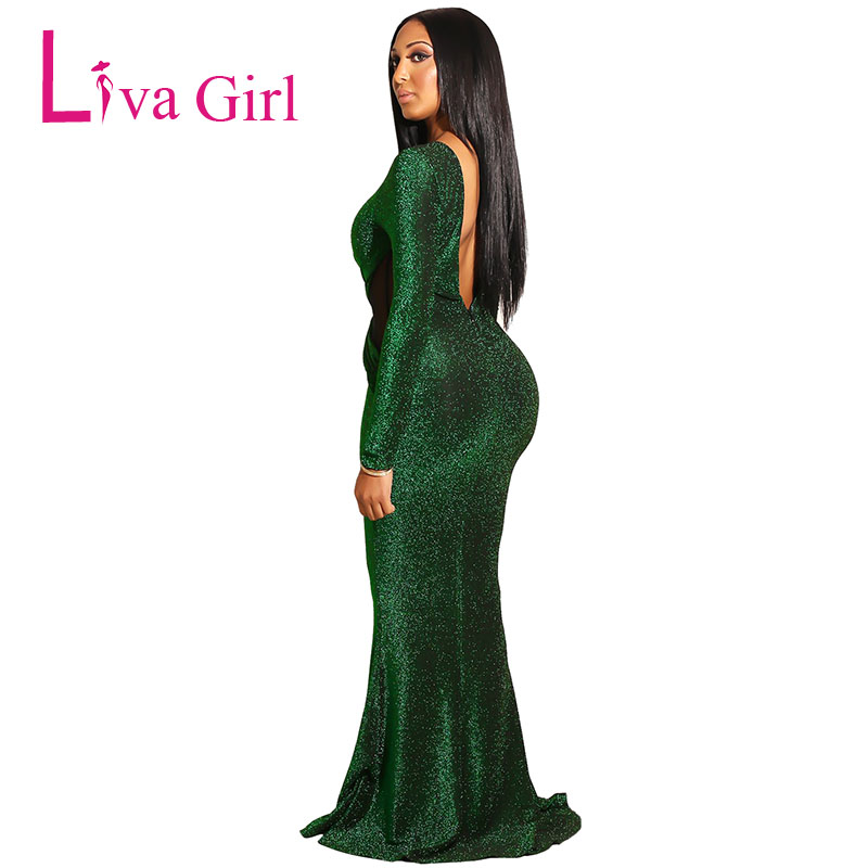 Emerald-Sexy-Long-Sleeves-Maxi-Bodycon-Evening-Gown-Dress-LC610985-9-2