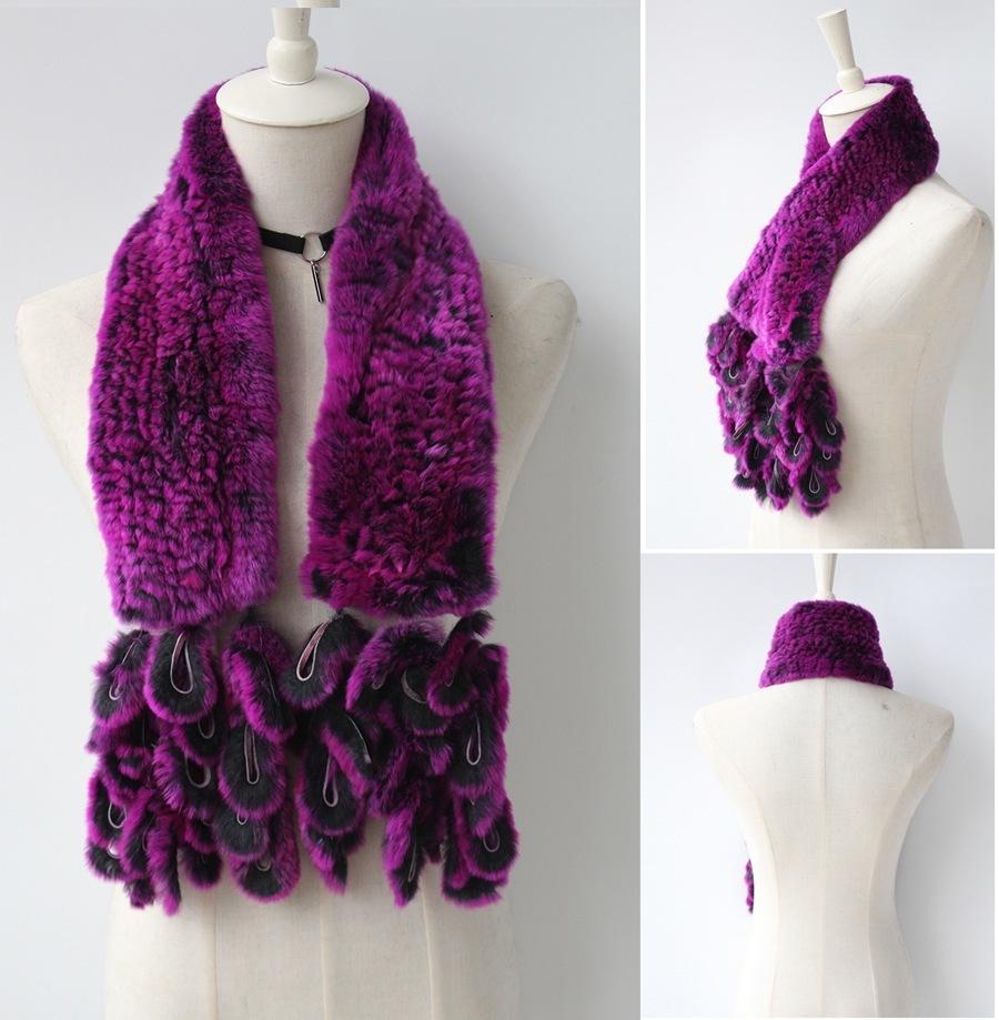 knitted rabbit fur scarf rabbit (6)