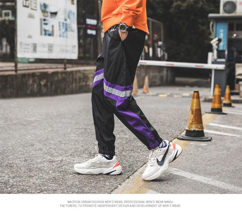 Loose Hip Hop Cargo Pants Men Camouflage Patchwork Harem Mens Trousers Streetwear (48)