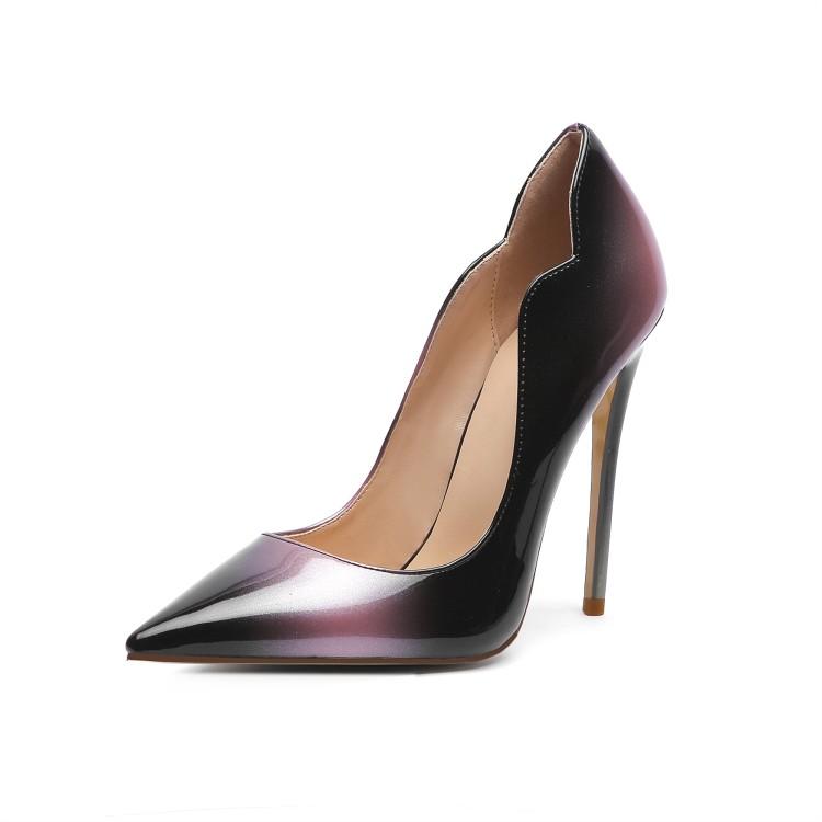 Rontic Women Chic Pumps Stiletto Heels Pumps Charm Pointed Toe Gorgeous Blue Pink Pink Gold Party Shoes Women Plus US Size 4-13