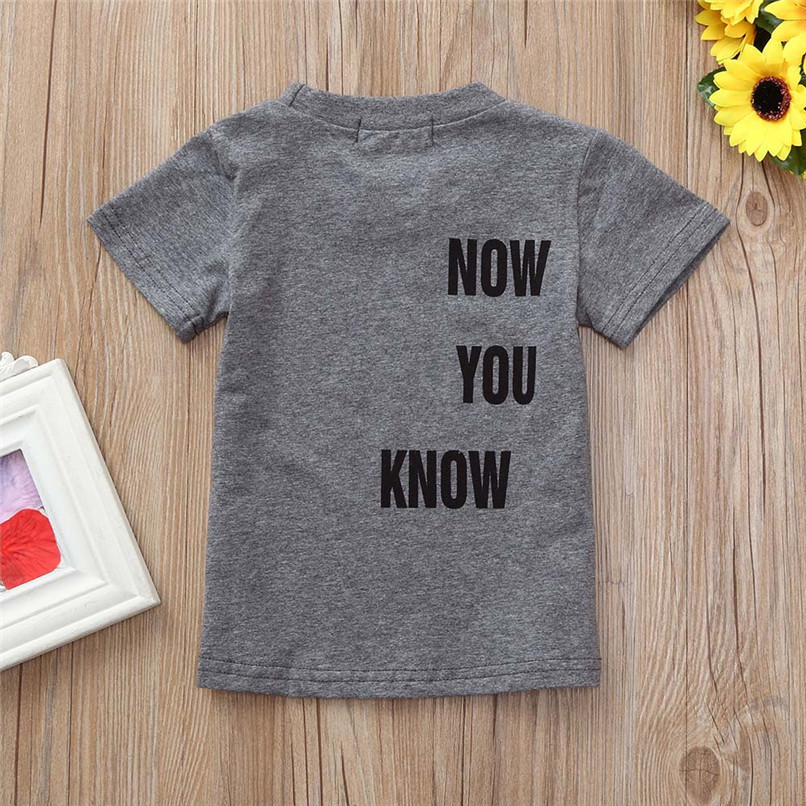 Summer Baby Boy Tops And Tees Toddler Infant Baby Boys Short Sleeve Two-sided Letter Print T-Shirt Tops Baby Boy Clothes M8Y24 (9)