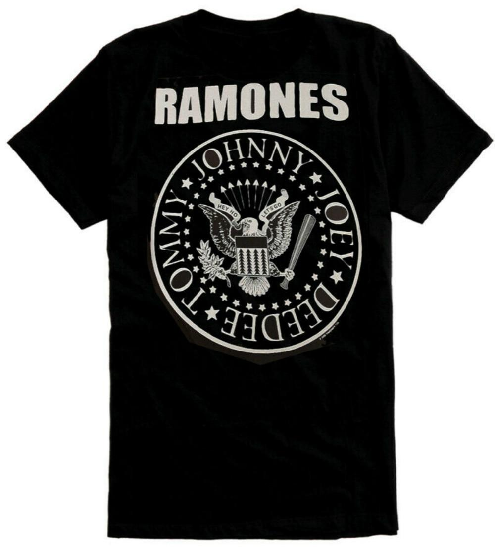 NEW /& OFFICIAL! Ramones /'Red Logo Seal/' Burnout T-Shirt