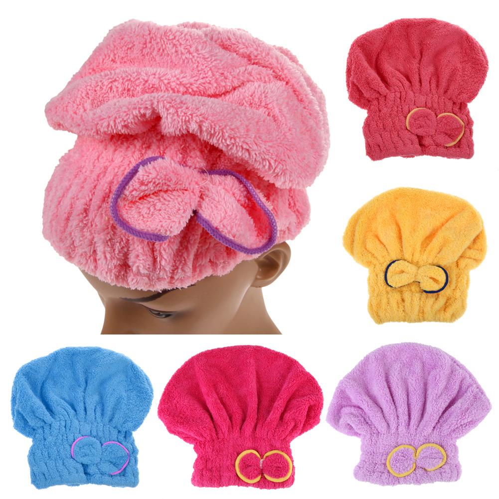 Microfiber Hair Trocknen Turban schnell Haare Hut gewickelt Handtuch Badehüte