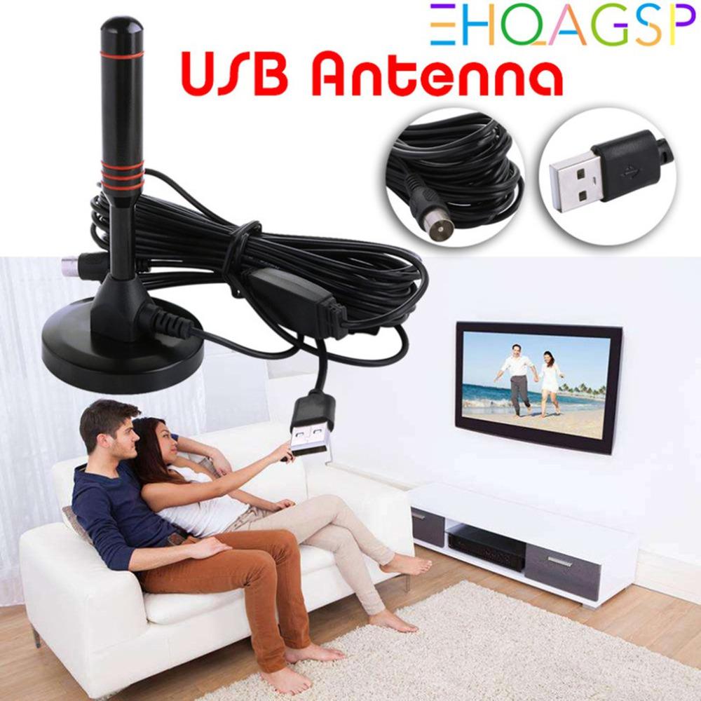 Intérieur interne TV 1080P Antenne HDTV antenne de réception ATSC DVB-T2 Wi-Fi 802.11 b / g / n Antennes Alimentation USB