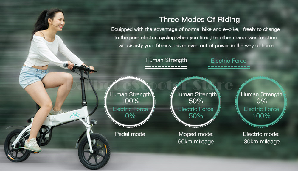 Fiido D1 Foldable Electric Scooter 2 Wheel Electric Bicycle 24V 250W Dual Brake System Portable Mini Folding Electric Bikes (4)