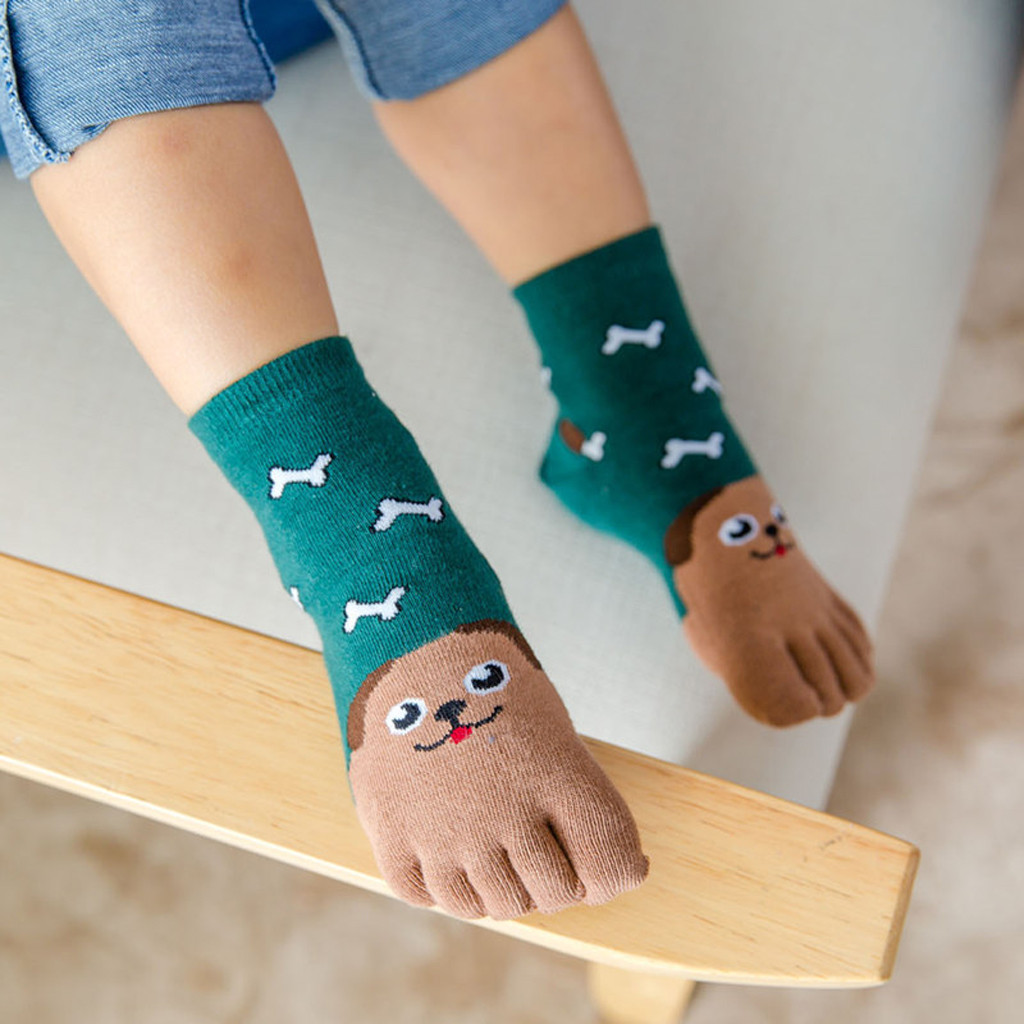 Kindersocken Socken Babysöckchen Karikatur Tier Winter Warm Jungen Fingersocken
