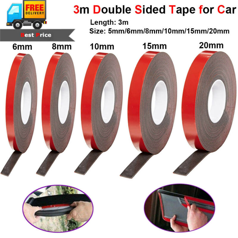 Red Double Sided Sticky Tape Super Strong Very Long 50m 15mm 1.5 cm wide