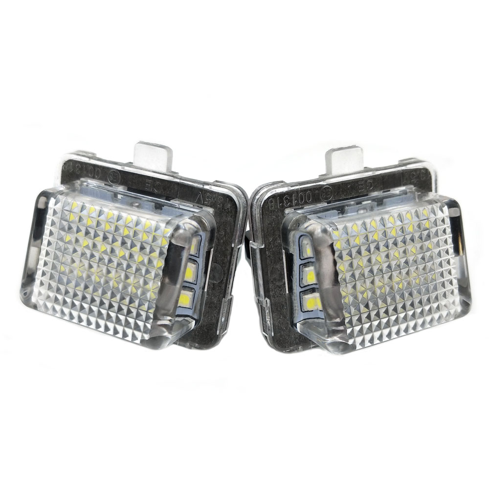 2Pcs LED License Number Plate Light Bulbs For Mercedes Benz W204 W221 W212 W216