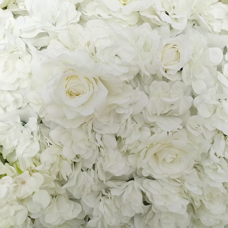 Artificial Flower Wall Wedding Background Decoration Lawn Pillar Road Lead Flower Arch Silk Rose Hydrangea White Flower C18112601