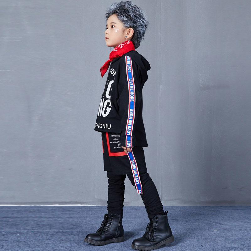 Autumn Hip Hop Jazz Dance Costumes for Kids Street Dance Clothes Sets Boys Girls High Fashion Street Wear Size 6 8 10 12 14 17 T (6)