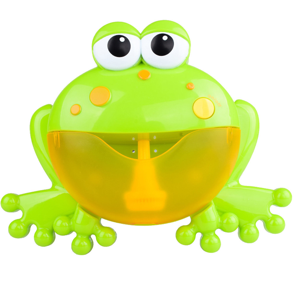 HINST Big Frog Automatic Bubble Maker Blower 12 Music Song Bath Toy for Baby Bring Many Happiness JAN18
