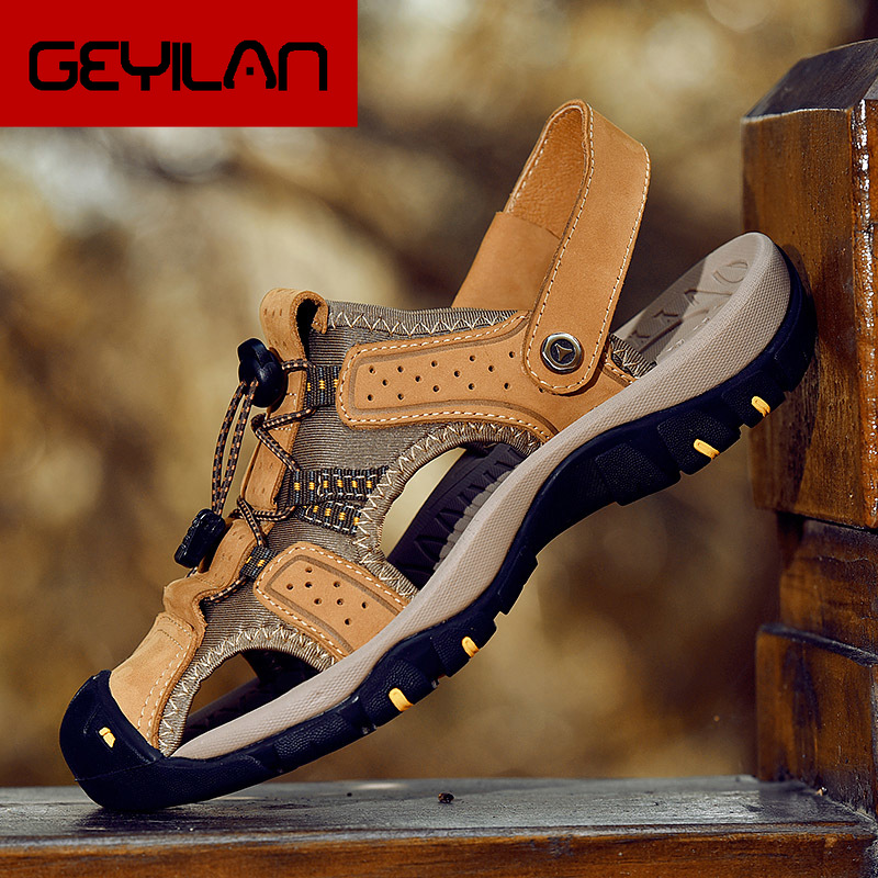 2019 Retro Roma Mens Jelly Hollow out Sport Sandals Casual Cover Fisherman Shoes