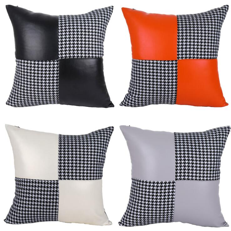 Cushion Cover Solid Color Soft Pillowcase Office Home Bed Sofa Car Décor New