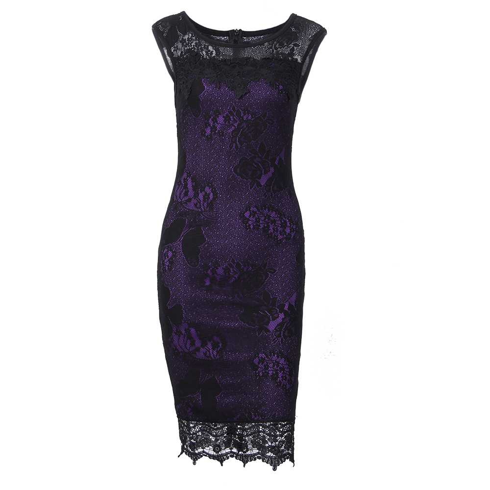 5xl Plus La Taille Femmes Crayon Dress Summer Fashion Exquins Sequins Crochet Papillon Dentelle Party Bodycon Dress