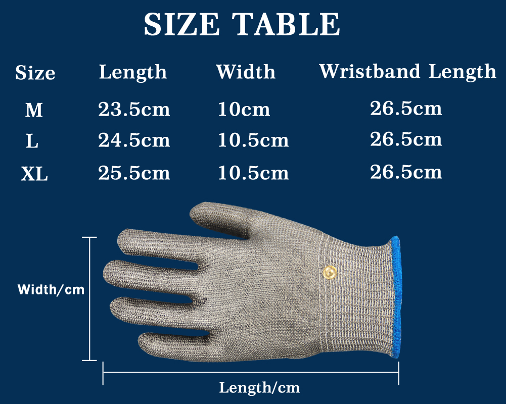 100% Stainless Steel High quality Butcher Protect Meat Glove,