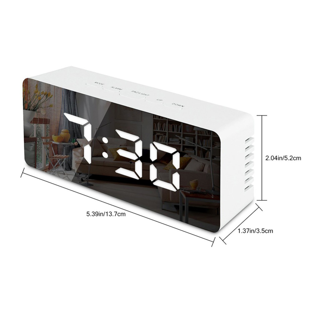 Upgrade LED mirror Clock-7