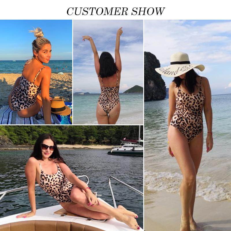 Бразильские бикини 2019 Mujer купальный костюм леопардовый цельный купальник женский пуш-ап купальники сексуальное боди купальщицы монокини Xl Y19072501