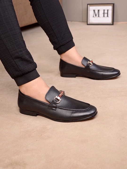 Hommes chaussures en cuir mode matures et simple de chaussures en cuir RUE taille 38-44 texture délicate WSJ019 shoesx6 d'affaires