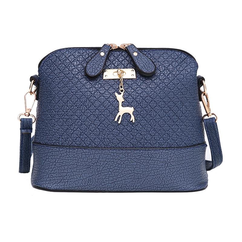 HOT SALE!2019 Messenger Fashion Mini With Deer Toy Shell Shape Bag Women Shoulder handbag genuine leather handbags