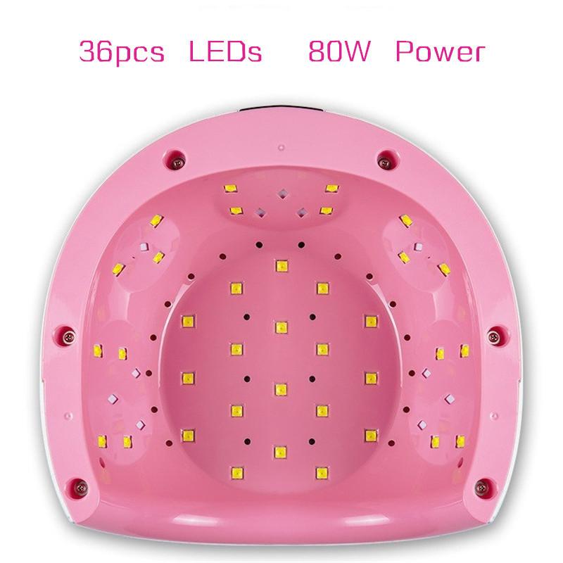 Hot Led Uv Nail Lamp Bful 80w Manicure 36 Leds Machine Uv Nail Dryer Ice Nagel Lamp Sun Light Fast Curing All Gel Varnish J190712