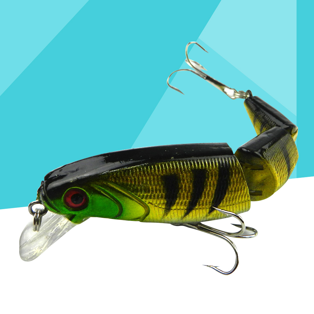 Fishing Lures Flexible Artificial Multi Jointed Bait Hooks Fishing Tackle Tool Crankbait For Perch Pike Walleye Bass