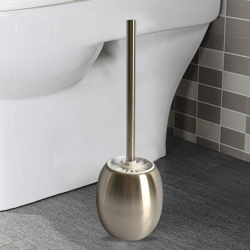 Wc-brosse wc-Garniture Brosse wc toilettes Baguette Garniture en Acier Inoxydable Blanc